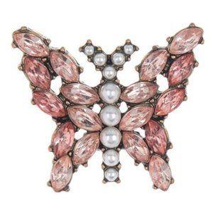 Baubblebar Pink Buttlefly Earrings Faux Pearls